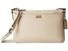Women's Cross-Body Handbags - COACH Womens Madison Leather EastWest Swingpack LightMilk * Click image for more details.