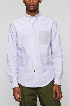 CPO Contrast Pocket Button-Down Shirt - Urban Outfitters Button Downs, Button Down Shirt, Work Shirts, Men Looks, Shirt Shop, Dapper, Work Wear, Urban Outfitters, Fitness Models