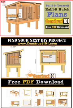 Instant Access to Woodworking Plans and Projects - TedsWoodworking Rabbit Cages Outdoor, Outdoor Rabbit Hutch, Indoor Rabbit, Rabbit Farm, Rabbit Life, Rabbit Hutch Plans, Rabbit Hutches, Meat Rabbits, Raising Rabbits