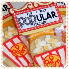 For a very POPular teacher.  Free printable. Could be used on bag of microwave popcorn to be even easier!