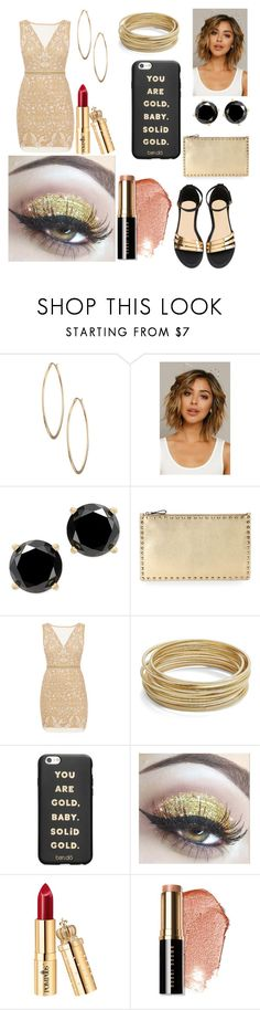"""""""You are Gold"""" by giulia-ostara-re ❤ liked on Polyvore featuring Lydell NYC, Valentino, Nicole Miller, Design Lab, ban.do and Bobbi Brown Cosmetics"""
