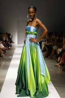 Trinidad Fashion Designers | ... to be ranked the #1 black model in the world wearing a Z&E design