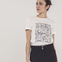 Tee-shirt brodé femme IKKS | Mode Femme Hiver 16 (BI10405)