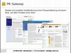 Mit PR-Gateway Pressemitteilungen und Unternehmensnews auf über 180 Presseportalen, Newsdiensten und Social Media veröffentlichen.