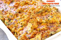 Cheesy Red Potatoes – Can't Stay Out of the Kitchen Fish Recipes, Seafood Recipes, Beef Recipes, Great Recipes, Potatoes Romanoff Recipe, Cheesy Red Potatoes, Vegetarian Nachos, Prime Rib Roast, Potato Sides