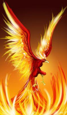 Rising Phoenix Bird-30 beautiful phoenix artworks, 3d and oil paintings for inspiration.