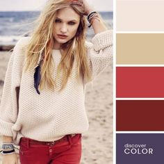 15 Ideal Color Combinations to Make You Look Great - I hadn't thought of using paint department color cards to help put outfits toether but that's what this looks like and it works! Colour Combinations Fashion, Color Combinations For Clothes, Fashion Colours, Colorful Fashion, Color Combos, Cool Outfits, Casual Outfits, Fashion Outfits, Fashion Tips