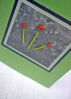 Flower Bud Hand Embroidered Blank Greetings Cards Set of 4