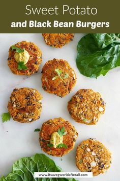 These sweet potato and black bean patties are a delicious vegan burger option. They're easy to prepare and store in the fridge or freezer. #veggieburgers #blackbeans #sweetpotatoes Bean Recipes, Burger Recipes, Grilling Recipes, Cooking Recipes, Paleo Recipes, Free Recipes, Homemade Veggie Burgers, Plant Based Burgers, How To Cook Beans