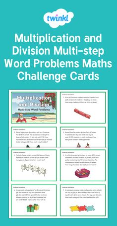 Multiplication and Division Challenge Cards