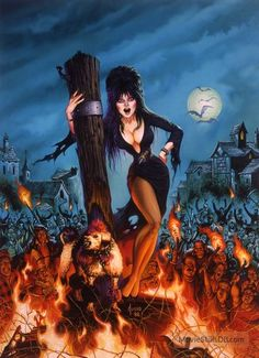 Elvira Mistress of The Dark Art Print Signed Joe Jusko Marvel Comic Cover Movie Cassandra Peterson, Comic Kunst, Comic Art, Comic Book, Samhain, Dark Fantasy, Fantasy Art, Elvira Movies, 7 Arts