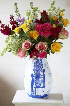 'Please Smell Us' Vase, Rob Ryan