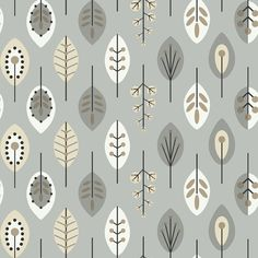This archival pattern brings the 1970's love of graphic design and contemporary form to today's décor with an update of classic midsized leaves and budding stems. Pared to its simplest form, these organic shapes become modern art for the walls.