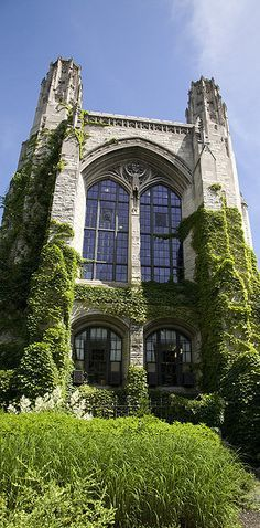 Chicago Design Destinations You Won't Find On A Boat Tour Deering Library at Northwestern University Gothic Style Architecture, Amazing Architecture, Chicago University, Chicago Illinois, Chicago Travel, Travel Usa, Chicago Trip, Chicago City, Carl Sagan