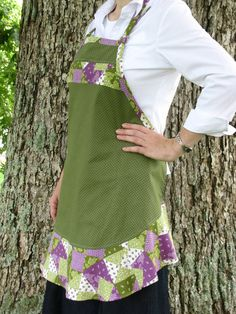 Women's full green and purple apron. Tell her Jasmine sent you & get a discount.