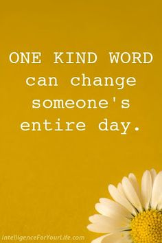Inspirational Picture Quotes...: One kind word.
