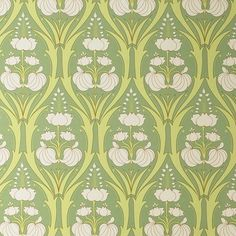 love this amy butler wallpaper. would love it even more on one wall of a room with white shelving.