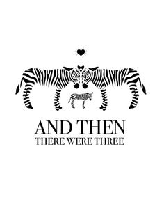 And then there were three! most adorable baby announcement / birth / expecting / we're pregnant! / zebras / love this! cute and beautiful