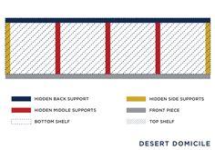 Desert Domicile: DIY $15 Chunky Wooden Floating Shelves