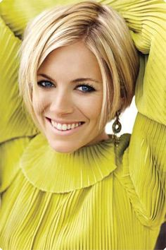 Sienna Miller one of the most trendy actresses is on this bandwagon as well for Concave Bob