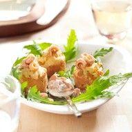 Hartige muffins met Hollandse garnalen