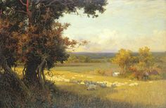 Pastoral Painting - The Golden Valley by Sir Alfred East