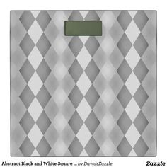 Abstract Black and White Square Pattern Digital Scale  Available on more products! Type in the name of the design in the search bar on my Zazzle Products Page. Thanks for looking!  #abstract #pattern #rectangle #square #black #white #grey #gray #buy #sale #zazzle #art #digital #style #life #lifestyle #accessory #accent #chic #contemporary #modern #home #decor #bathroom #bath #scale #weigh #weight #digital #health