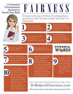INFOGRAPHIC: Starting a conversation about fairness with your children.