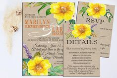Fall Wedding Invitations Wedding invitation by MyPrintableArts