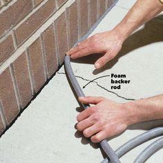 Caulking Concrete Cracks – Home Maintenance Home Improvement Projects, Home Projects, Home Improvements, Home Renovation, Home Remodeling, Repair Cracked Concrete, Concrete Floor Repair, The Family Handyman, Driveway Repair