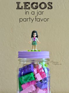 The perfect LEGO party favor for a LEGO birthday party!  Each child goes home with plenty of bricks to build and they're so simple to make your kids can do most of the work.