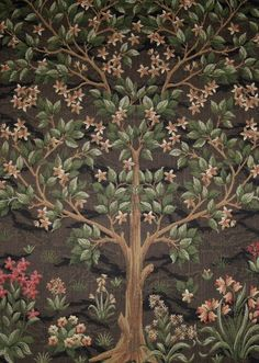Tree of Life tapestry design by William Morris Arts And Crafts Interiors, Arts And Crafts House, Arts And Crafts Projects, William Morris Patterns, William Morris Art, Art And Craft Videos, Motif Floral, Arts And Crafts Movement, Botanical Art