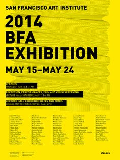 SFAI 2014 BFA Exhibition by Yen Hung Lin, via Behance