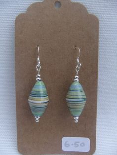 Sterling silver Paper Bead Earrings by PaperbeadsUK on Etsy, £6.50