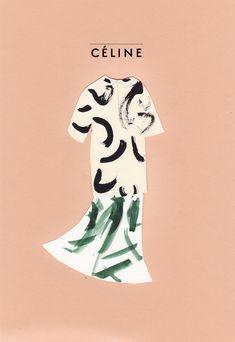 A4 - Celine print via Sainte Maria Illustration. Click on the image to see more!