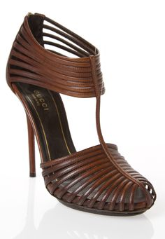 The most perfect shade of chestnut brown.  Great Gucci Heels via @FollowShopHers. #heels #Gucci