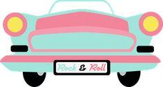 ROCK & ROLL CAR CLIP ART