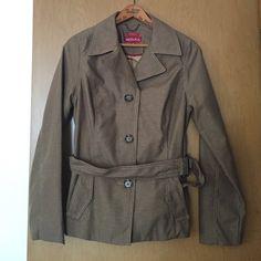 Merona water repellant coat Very nice and clean Merona jacket with belt. Merona Jackets & Coats