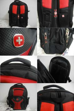Swiss gear backpack. Cheap and sturdy. Hold my laptop, books ...