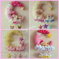 Gecmis zaman içinde hazirladiklarimdan#keçe #kece #kapisusu #kapısüsü #kecekapisusu #hastanekapısüsü #babyshower #birthday #doğumgünü #dogumgunu #hediye #magnet #baby #babyroom #bebekodasi #bebekodasidekor #pano #cocukodasi #kecepano #günaydın #goodmorning #aydede #bulut #yıldız #pembe #pink