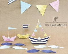 DIY - How to make a paper boat as party decor. #nauticalpartydecor #paperboatideas