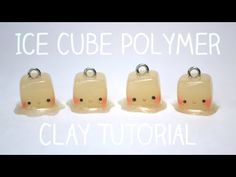 cool ice cube charms by CheekyCharmz! Polymer Clay Kawaii, Sculpey Clay, Polymer Clay Projects, Polymer Clay Charms, Polymer Clay Art, Diy Clay, Clay Crafts, Fun Crafts, Polymer Clay Miniatures