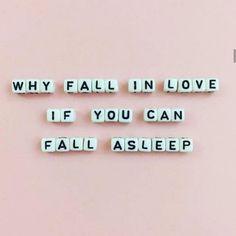 Fall (in love) asleep