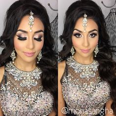 Bombshell alert!! 😍😍 One of my clients from this past weekend. I provided hair and makeup services for her engagement party. Love her outfit 💎💎 Cant wait to doll you up again later this year for your wedding & reception ❤️ #keepingupwithmona #monasangha #mua #vancouvermakeupartist #eyeshadow #maccosmetics #sigmabeauty #sigmabrushes #anastasiabeverlyhills @anastasiabeverlyhills #dressyourface #dressyourfacelive #indianwedding #sikhwedding #indianbride #allthingsbridal #indianweddingbuzz…