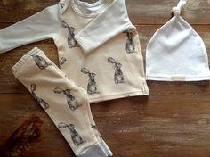 Ready to ship 0-3 Month Organic baby outfit by MimisOrganics1