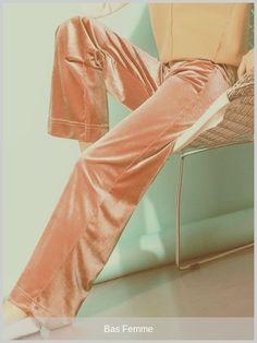 #basfemme - Pantalon rose Corduroy stretch Pantalon taille Élevé Sneakers Shoes, Leggings, Corduroy, Casual, Fashion, Pant Romper Outfit, Pink Trousers, Knee Highs, Women's Bottoms