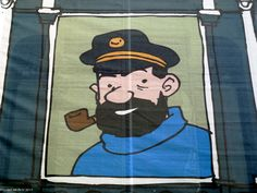 Capitán Haddock,  personaje de cómic. Comic character Captain Haddock