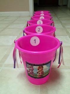 The Princess Birthday Blog: Princess Party Games: Princess Pink Bucket Toss #princessparty #princessgames