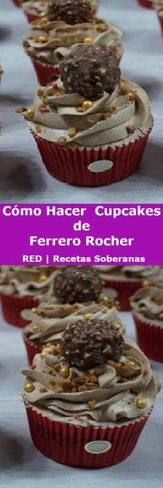 Hoy os voy a mostrar como hacer unas deliciosas CUPCAKES de FERRERO ROCHER ideales para compartir en familia.  #ferrero #ferrerorocher  #cakes #cupcakes #vainilla #comohacer #perfect #postres #receta #recipe #casero #torta #tartas #pastel #nestlecocina #bizcocho #bizcochuelo #tasty #cocina #chocolate #pan #panes  Si te gusta dinos HOLA y dale a Me Gusta MIREN