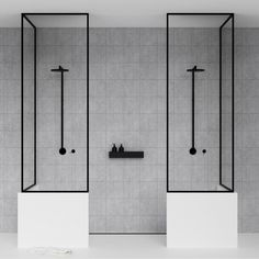 BATH SHELF is a minimalistic storage shelf for shampoo bottles and other things that usually makes a mess in the shower cabin. Bathroom Spa, Bathroom Interior, Modern Bathroom, Bathroom Ideas, Simple Bathroom, Bathroom Designs, Bathroom Remodeling, Black Bathrooms, Glass Bathroom